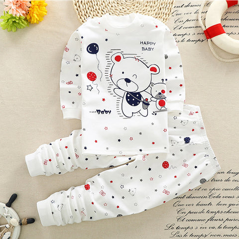 2018 Cartoon style Newborn Baby boys Clothing cotton Baby girls Clothes Long Sleeve Baby pajamas Unisex 0-24M Baby Clothing Set