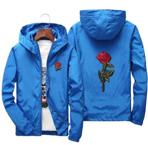 yizlo rose jacket windbreaker men women jaqueta masculina college jackets