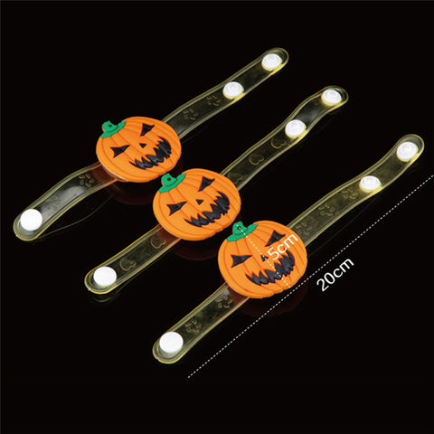 Happy Halloween Party Glowing Household Children Pumpkin Decor Terror Wrist Band Wholesale Free Shipping 0aug1 #1T3