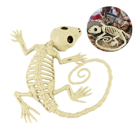 Halloween Skeleton Gecko Horror Haunted House Retro Party Decoration Props Wall-Mounted Skeleton Animal Bauble Halloween Decor