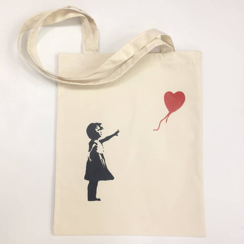 Banksy The Girl With The Balloon Tote Bag Shopping Palestine Souvenir Canvas Unisex Handbags