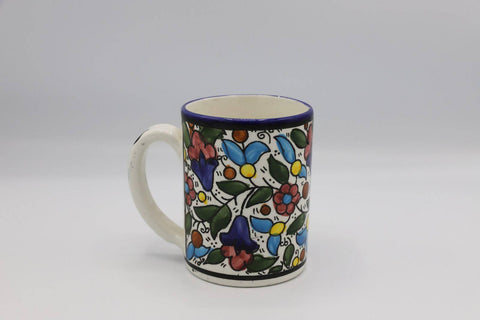 Ceramic Mug Hebron Crafts Decorated With A Beautiful Multi-Colors Pattern