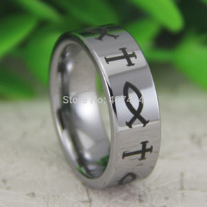 Tungsten Symbol Ring