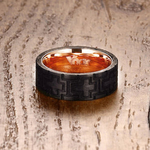 Stainless Steel with Carbon Fiber Tire Tread Ring
