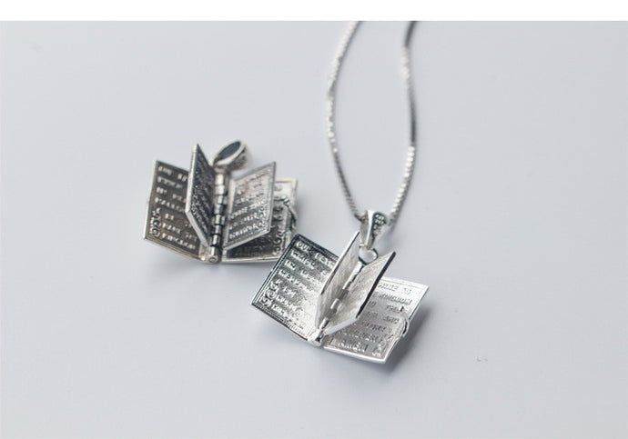 925 Sterling Silver Holy Scripture Necklace & Pendant