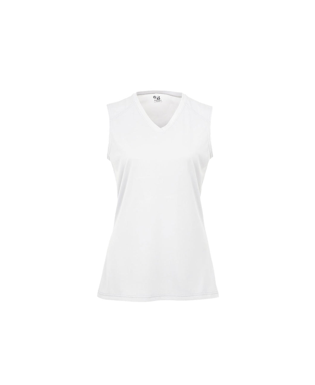 Badger Girls sleeveless white