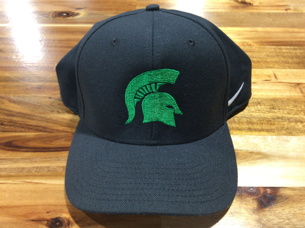 Black/Green Spartan Pride Nike Team Swoosh Flex Hat