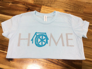 "Mtn Brook Youth Light Blue Mill ""Home"" t-shirt"