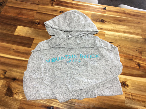 Mtn Brook Venley Gray Hoodie, Women's, with turquoise lettering