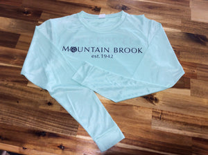Mtn Brook L/S Mint t-shirt, Mtn Brook Est. 1942
