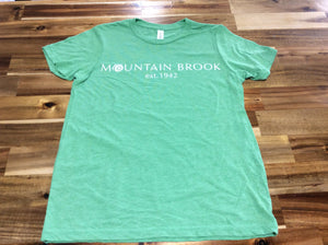 Mtn Brook Canvas Youth Green S/S t-shirt, Mtn Brook Est. 1942