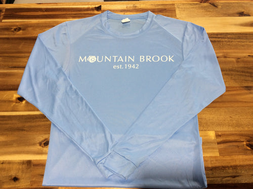 Mtn Brook Powder Blue L/S T-Shirt, Mountain Brook Est. 1942