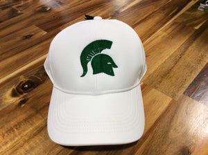 *Spartan Pride White Nike Aerobill Hat with Green Spartan Head