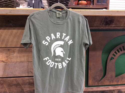 *Spartan Pride Moss Green Spartan Football Comfort Color T-Shirt