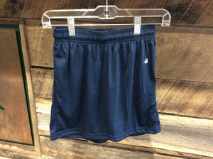 "Badger Navy Blue Shorts Girls 4"" inseam"