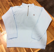 Comfort Colors Adult 1/4 Zip Fleece with MB Crest -Chambray