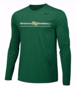Spartan Baseball Club- Nike L/S Dri Fit