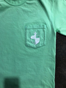 MB Crest S/S Adult Comfort Color Pocket Tee/Lime Green