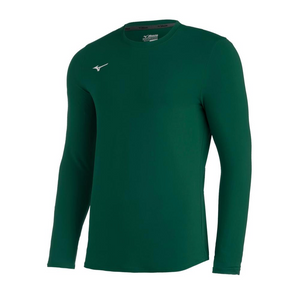 Mizuno L/S Dark Green Performance Shirt