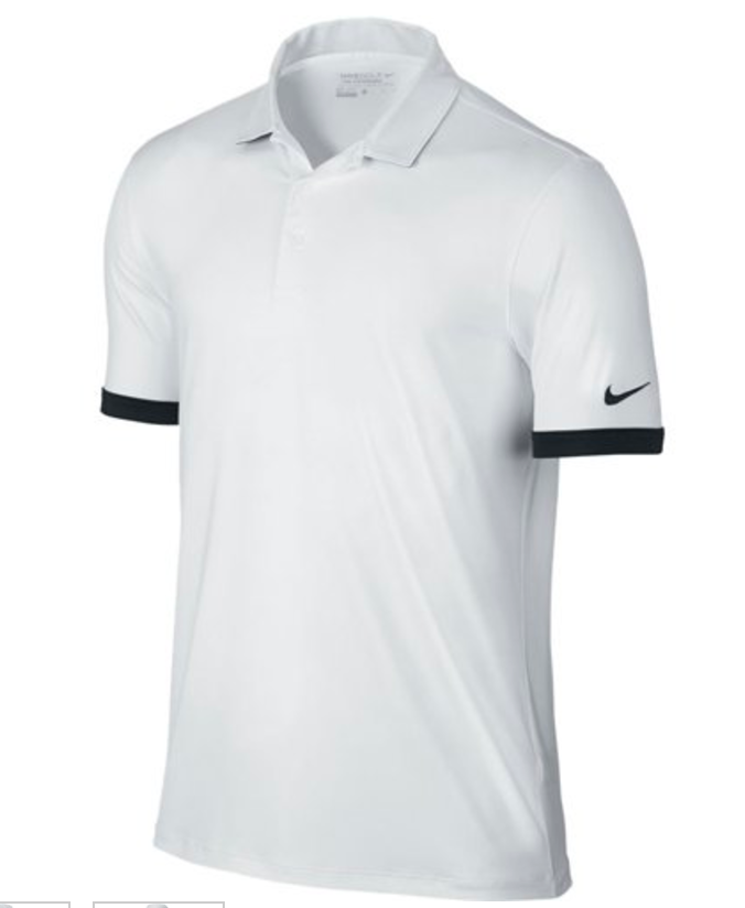 Nike Golf Solid Icon Pique White