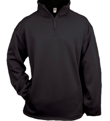 Badger Quarter Zip Pullover- Black
