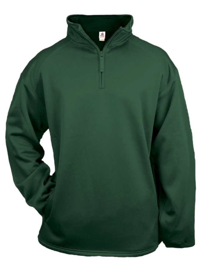 Badger Quarter Zip Pullover- Green