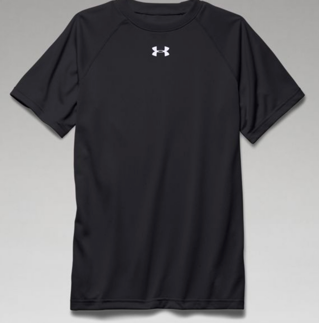 Under Armour Boys Locker Tee Short Sleeve-BLACK