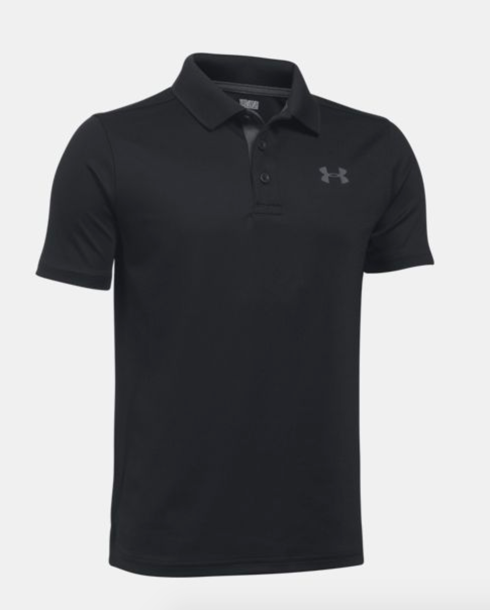 Under Armour Youth Performance Polo- Black