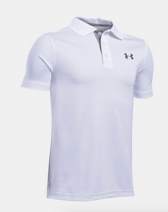 Under Armour Youth Performance Polo- White