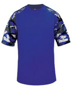 Badger Youth Camo Sport Tee - Royal