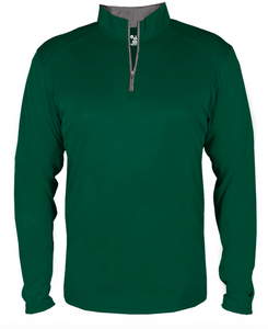 Badger Quarter Zip Youth Pullover- Green