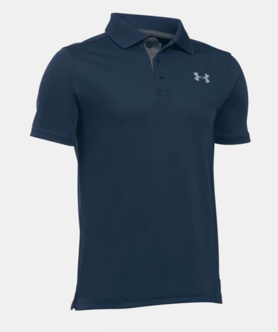 Under Armour Youth Performance Polo- Navy