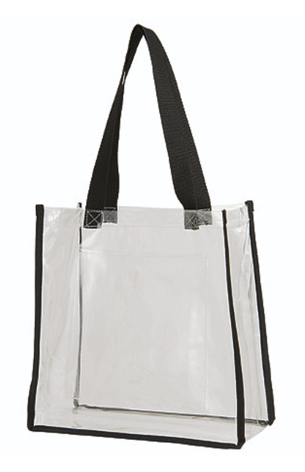 Game Day Clear Plastic Tote