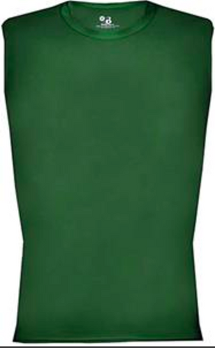 Badger Pro Compression Sleeveless Shirt Forest Green