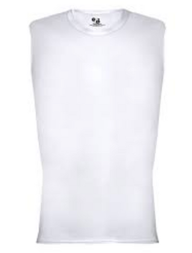 Badger Pro Compression Shirt Sleeveless White