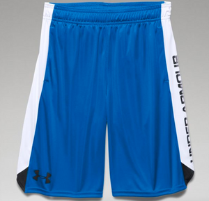 Under Armour Boys Eliminator Shorts-Royal/White
