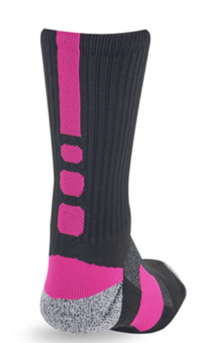 Pro Feet Shooter 2.0 Sock-Black/Neon Pink