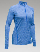 UA Womens Tech 1/2 Zip-Twist- HEATHERED BLACK