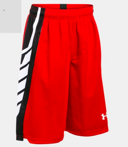 UA Select Boys' Basketball Shorts - Risk Red/Black