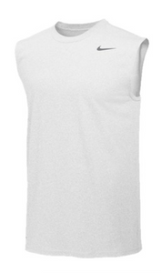 Nike Pro Cool Compression Sleeveless Top- White