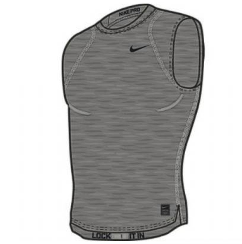 Nike Pro Cool Sleeveless Compression Shirt - Carbon Heather