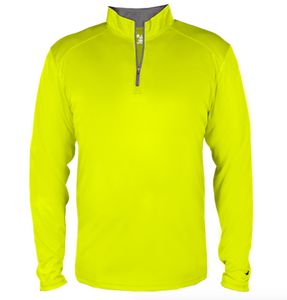 Badger Quarter Zip Pullover- Safety Yellow and Graphite