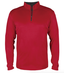 Badger Quarter Zip Pullover- Red