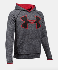Under Amour Youth Armour Fleece Twist Hoody - Black/Red