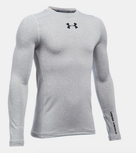 Under Armour Youth ColdGear Armour Crew - Grey Heather