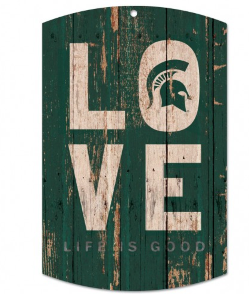 Spartans Life is Good Wood Sign