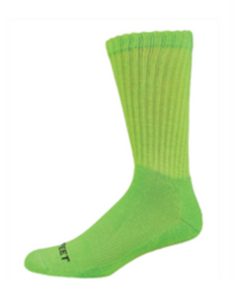Pro Feet Neon Crew Socks - Safety Green