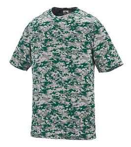 Augusta Youth Digi Camo Wikcing Performance Tee - Green