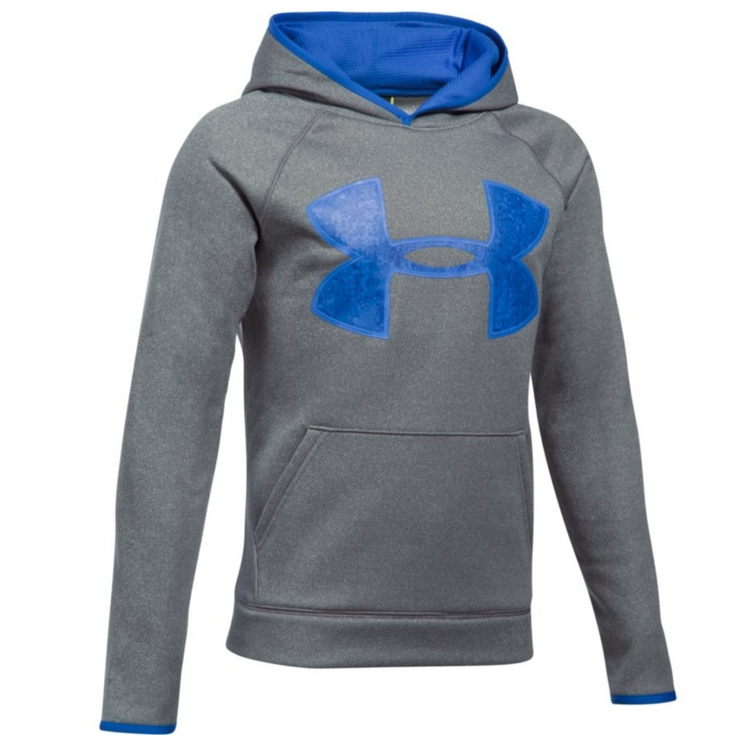 Under Armour Youth Big Logo Hoodie - Charcoal/Royal