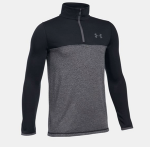 Under Armour Youth Threadborne 1/4 Zip - Black